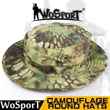 WoSporT Tactical Airsoft Boonie Bucket Hats Militaruy Army Hiking Climbing Fishing Mountain Sunshade Wide Brim Camouflage Cap