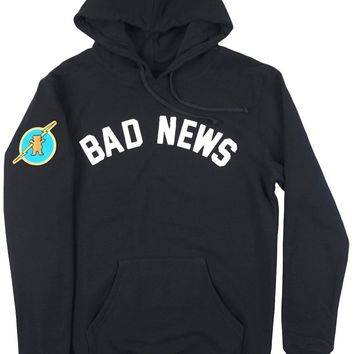 HCXX Grizzly Griptape Bad News Sweatshirt Hoodie Pullover Mens Black