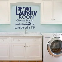 Laundry Change in Pockets | Vinyl Lettering | Wall Quotes