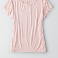 AEO Soft & Sexy Tomgirl T-Shirt , Blush | American Eagle Outfitters