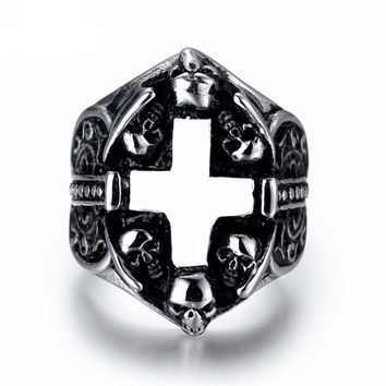 Rebellious - European Cross Ring - Silver