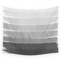 Society6 Brushstroke Ombre Grey Charcoal Minimal Wall Tapestry