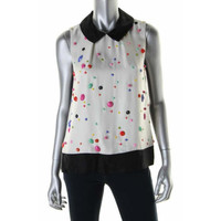 Kate Spade Womens Colorblock Embellished Blouse