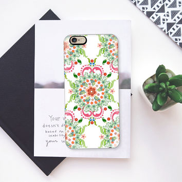 Folk art medallions on white iPhone 6s case by Heaven Seven | Casetify
