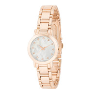Fashion Accessories Rose Gold Watch With Crystals ROSE