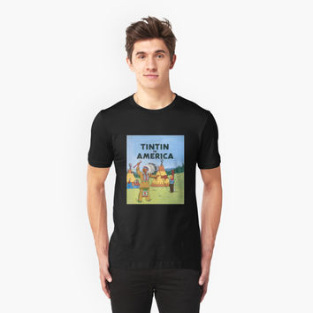 'tintin in america' T-Shirt by PEACE6699