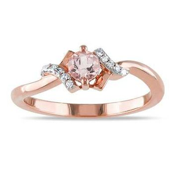 4 0mm Morganite And Diamond Accent From Zales Things I Want As