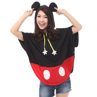 () And poncho Womens women's character were poncho coat summer poncho Mickey cutting poncho Disney toy (P16Sep15) (10P05Dec15)