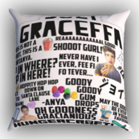 Joey Graceffa Quotes Zippered Pillows  Covers 16x16, 18x18, 20x20 Inches