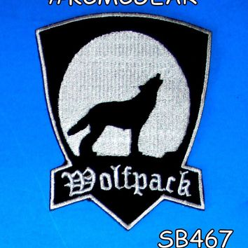 Wolf Pack Patch Wolfpack Brotherhood for Biker Motorcycle vest jacket size 4""