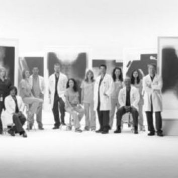 "Greys Anatomy Poster Black and White Poster 24""x36"""