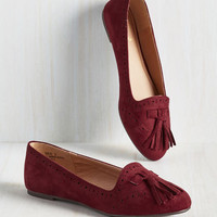 Soaring Tutorial Flat in Burgundy
