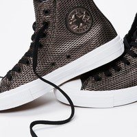 Free People Perforated Metallic Leather Hi Top Chucks