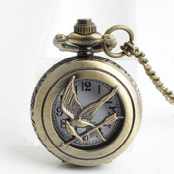 Artilady Fashion Jewelry the hunger game Harry Potter Dive Watch Male Clock Retro necklace Pocket watch