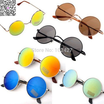 Promotional Discount 2015 Hot Sale Fashion Sunglasses Unisex Hippie Shades Hippy 60S John Lennon Style Vintage Round Sunglasses