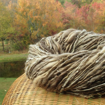 Handspun llama, alpaca, silk and merino plant dyed yarn with sparkly gold angelina - 100 yards, 2.45 ounces/ 70 grams