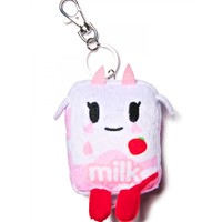 STRAWBERRY MILK MOOFIA PLUSH KEYCHAIN