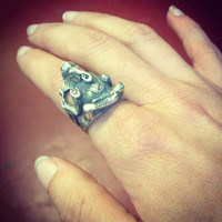 Ganesh Silver Coated Brass Ring
