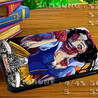 Snow White Zombie Walt Disney Princess - For iphone 4 iphone 5 samsung galaxy s4 / s3 / s2 Case Or Cover Phone.