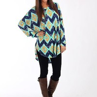 The Dani Tunic, Navy