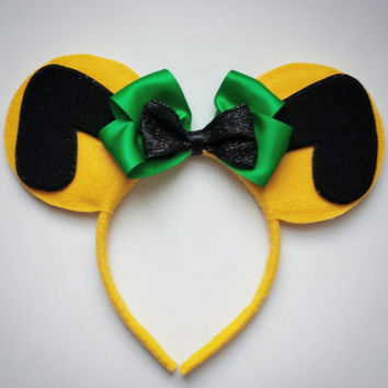 Pluto inspired Minnie Mouse Ears Headband Dog/yellow/green/mickey mouse/Birthday
