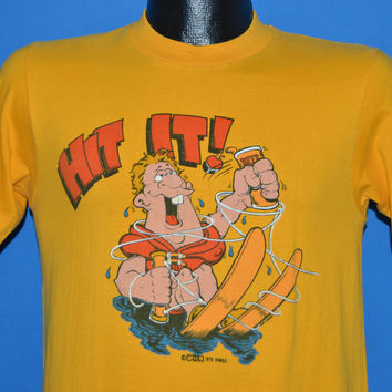 70s Water Ski Beer Drinking Hit It t-shirt Small