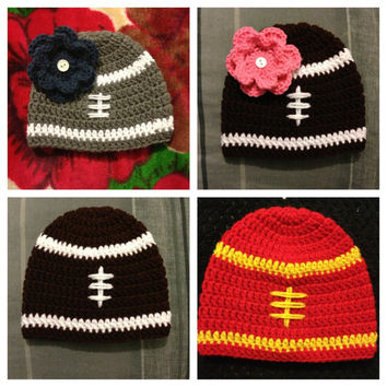 Football Crochet Beanie for Girls and Boys