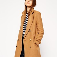 ASOS Pea Coat In Double Breast