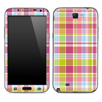 Pink And Yellow Plaid Skin for the Samsung Galaxy Note 1 or 2