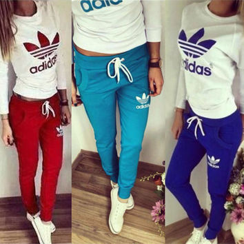 Fashion Print Top Sweater Sweatshirt Pants Trousers Sweatpants Set Two-Piece Sportswear