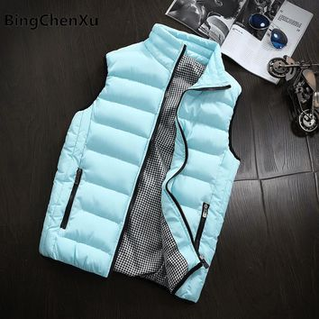 Waistcoats Men's Down Vest Coat Winter Cardigans Jackets warm Vest Sleeveless Jacket Plus Size Waistcoat Fashion 5XL Women 614