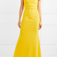 Roland Mouret - Gerzon off-the-shoulder wool-crepe gown