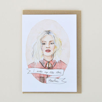 Beyonce 'Flawless' Greeting Card by Oh Gosh Cindy