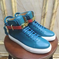 Buscemi Men's Leather Fashion High Top Sneakers Shoes