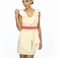 Lemon Macaroon Dress - Party Dress - Ruffle Dress - $71.00