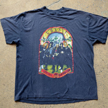 Vintage 80's Guns N Roses Appetite For Destruction Promo Rock Tour T Shirt