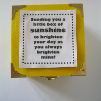 Box of Sunshine, happy Best Friend Present, cheer up gift daily positive affirmations motivational trinket inspirational quotes birthday