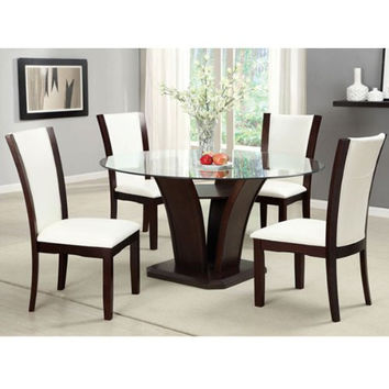 Best glass top dining table set products on wanelo for 13 piece dining table set