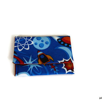 Rockets and Planets or Aliens and Robots Your Choice of One Card Case