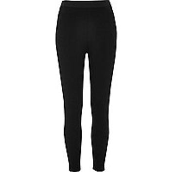 Black smooth jersey leggings