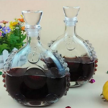 Glass Wine Bottle Wine Water Jug Whiskey Beer Bottle Decanter Dispenser Liquor Shaker