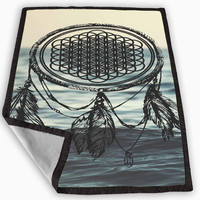 Bring Me The Horizon Dreamcatcher Blanket for Kids Blanket, Fleece Blanket Cute and Awesome Blanket for your bedding, Blanket fleece *