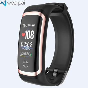 Wearpai M4 fitness tracker Color screen blood pressure passometer message/call reminder smart bracelet for sports swimming