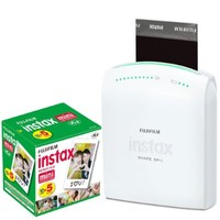 Fujifilm Instax Share Smartphone Portable Printer SP-1 With Fujifilm Instax Mini Instant Film, 10 Sheets (5-Pack)