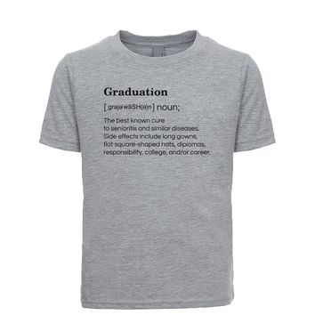 Graduation: The Best Known Cure To Senioritis And Similar Diseases. Unisex Kid's Tee