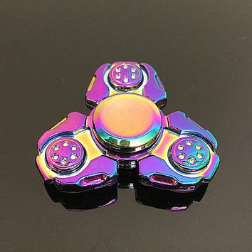 Triangular Russian wind Fidget Spinner Metal Rainbow Dragon Hand Finger Spinners Autism ADHD Focus Anxiety Relief Stress SZJD