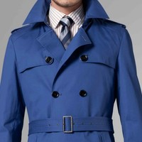 THE ULTIMATE COBALT BLUE TRENCH COAT
