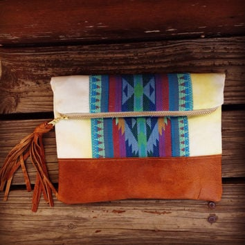 Fold over Clutch, Aztec, tribal, southwestern clutch. Best selling clutch, most popular