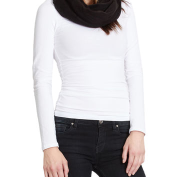 LE3NO Womens Solid Wrap Infinity Loop Knit Scarf