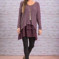 Envisions Of Love Sweater, Violet